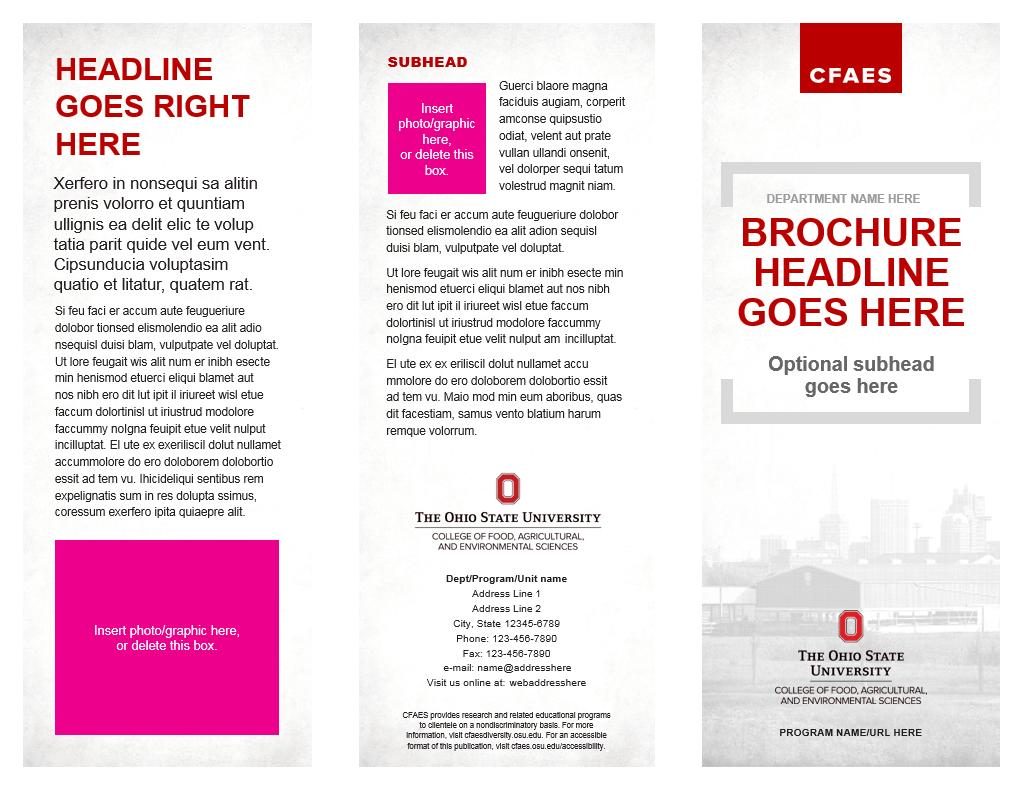 8 5 x11 brochure template - brochures the cfaes brand