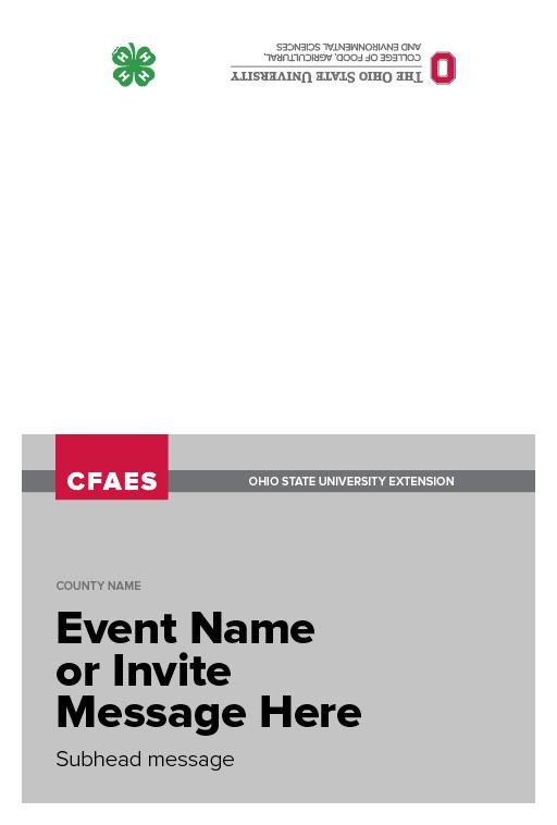 4-H Event Invite