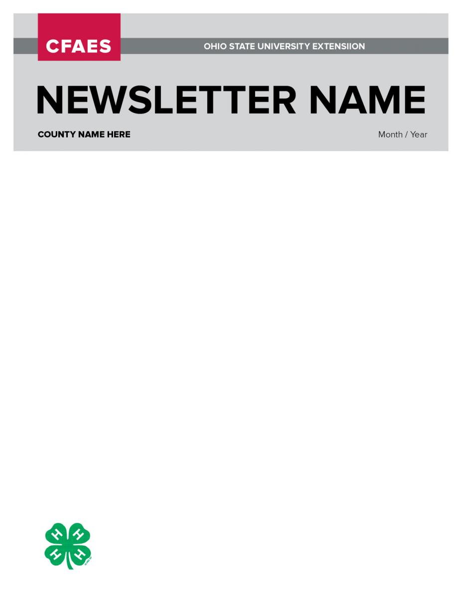 4-H Newsletter template