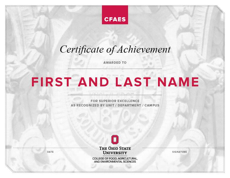 CFAES Certificate