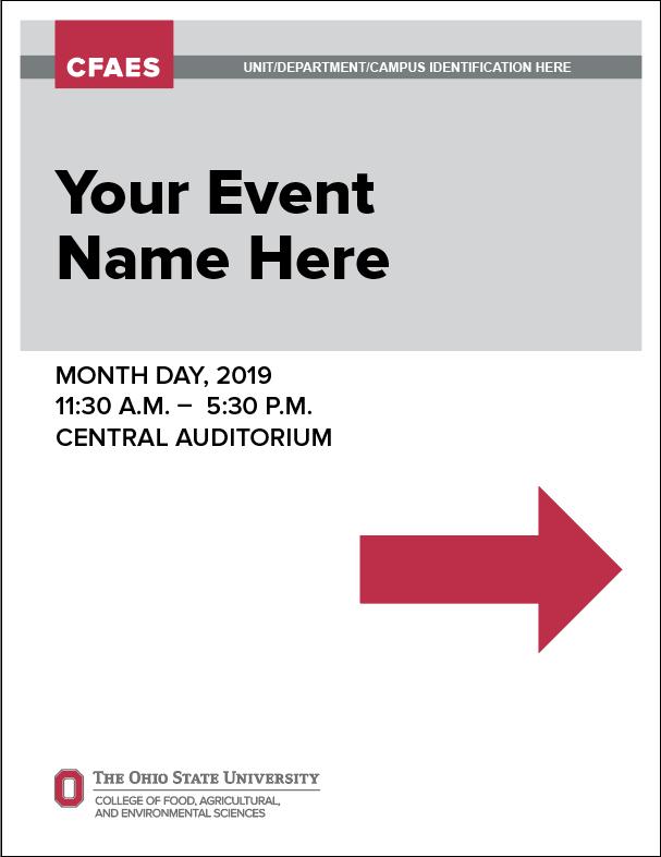 CFAES Event Sign