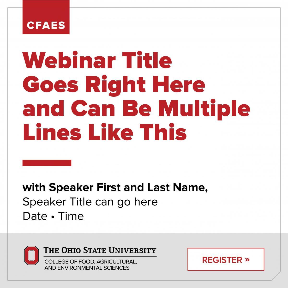 CFAES Webinar Graphic
