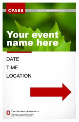 Brand Event Signage, 11x17, Option 1