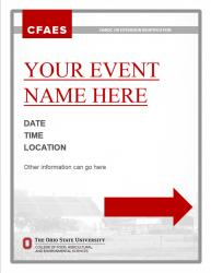 Brand Event Signage, Letter, Option 2