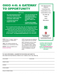 4-H Recruitment Flyer back