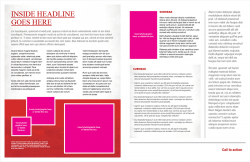 Academic Brand Brochure, Option 1, 11x17 Bifold, Interior
