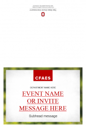 Academic Brand Event Invitation - Option 3 - Exterior