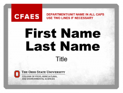 Academic Department Nametag