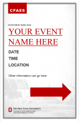 Academic Brand Event Sign - 11x17 2