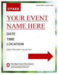 Academic Brand Event Sign - 24x31 3