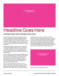 Brand Newsletter, 4 page template, page 2