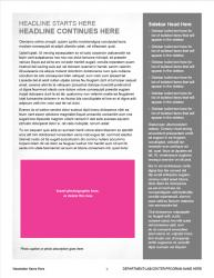 Brand Newsletter, 4 page template, page 3