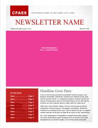 Brand Newsletter, 8 page template, page 1