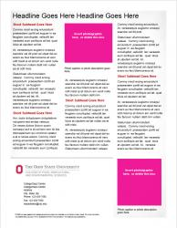 Brand Newsletter, 2 page template, page 2