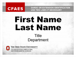 OARDC/Extension Nametag