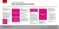 Brand Research Poster, 36x18