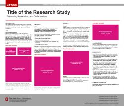 Research Poster, 42x36, Ext/OARDC